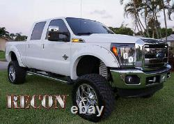 Recon Illuminated F-350 Black Fender Emblems For 2011-2016 Ford F-350 Super Duty