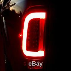Recon Smoked OLED Scanning LED Tail Lights For 2008-2016 Ford Super Duty Trucks