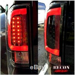 Recon Smoked OLED Tail Lights For 2008-2016 Ford Super Duty F250 F350 F450 F550