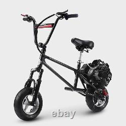 TOXOZERS Gas Mini Bike 49cc Dirt Bike Gas Powered with Two Stroke and Adjustable