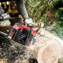 Upgraded 58CC 20Inch 2Stroke Guide Board Chainsaw Gasoline Powered Handheld Yard
