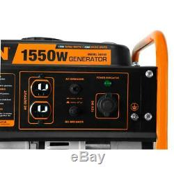 Wen Generator Gas Powered Portable Compact 4 Stroke 98 cc 1550 Watt 1.1 Gal Tank